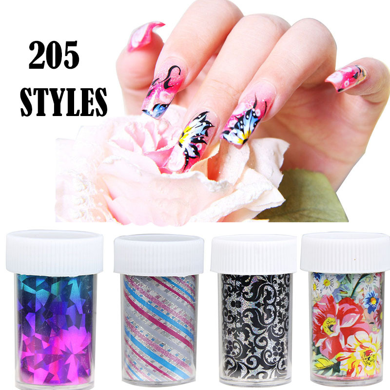 10 Pc Lot Nail Art Transfer Foil 174 Style Stickers Decorations Decals Tip Styling Tools Lace Flower Pattern