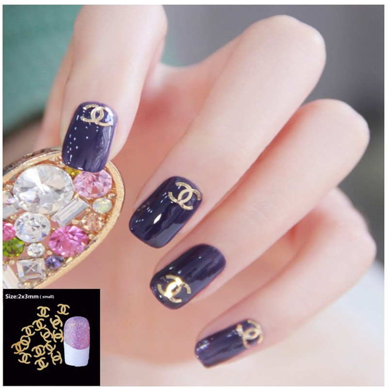 100Pcs/Pack 3D Nail Art Decorations 18 Model Plated Sheet Nails For ...
