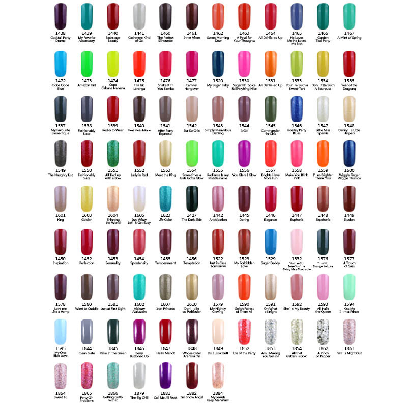 199 Colors Specialized solid Gelpolish Choose Any 1pcs Nail Salon ...