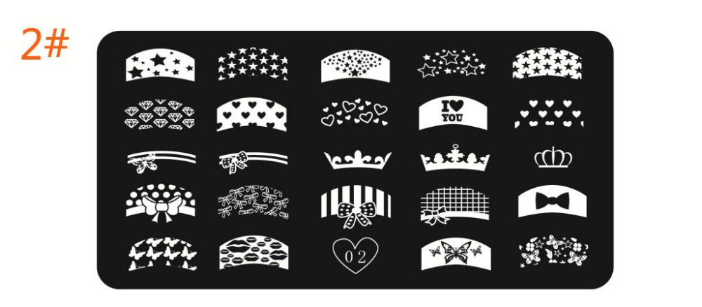 1PC 24 Mix Designs Available Nail Art Steel Template Stamping Plates ...