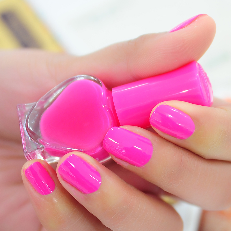 Fluorescent Pink Nail Polish - Best Nail 2018