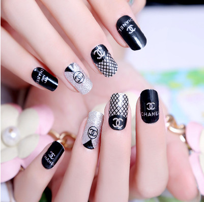 Fashion Y New Nail Sticker Decal Art Manicure Five Stickers Free Shipping