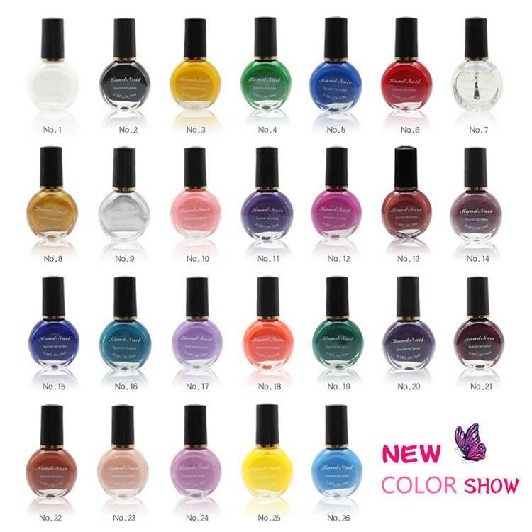 26colors to choose 1 bottles professional painting konad nail 26colors to choose 1 bottles professional painting konad nail varnish manicure uv nail polish gel for nail art stamping print prinsesfo Choice Image