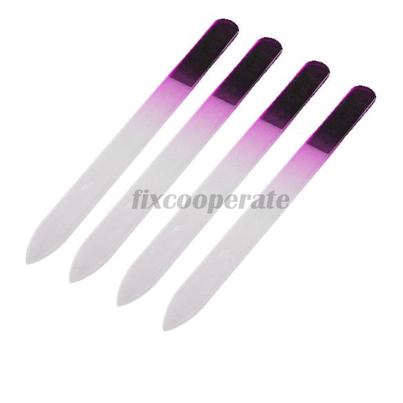 4x Durable Crystal Glass File Buffer Nail Art Files Manicure Device ...