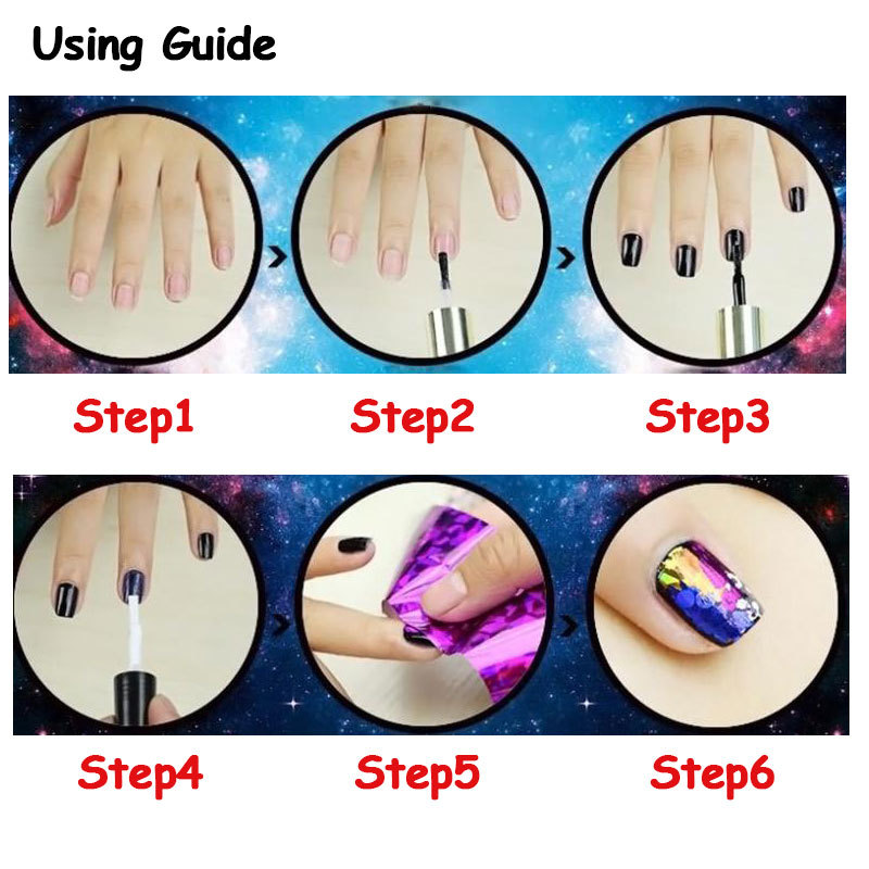 46 Desigs Nail Art Transfer Foils Sticker,12pcs/lot Hot Beauty Free ...