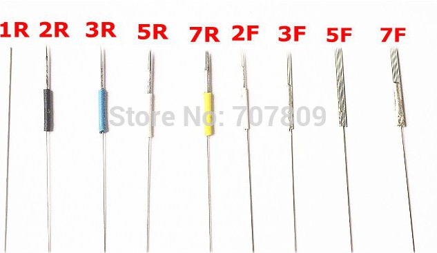 500pcs new tattooing makeup needles 1rl sterilized for How to make a tattoo needle