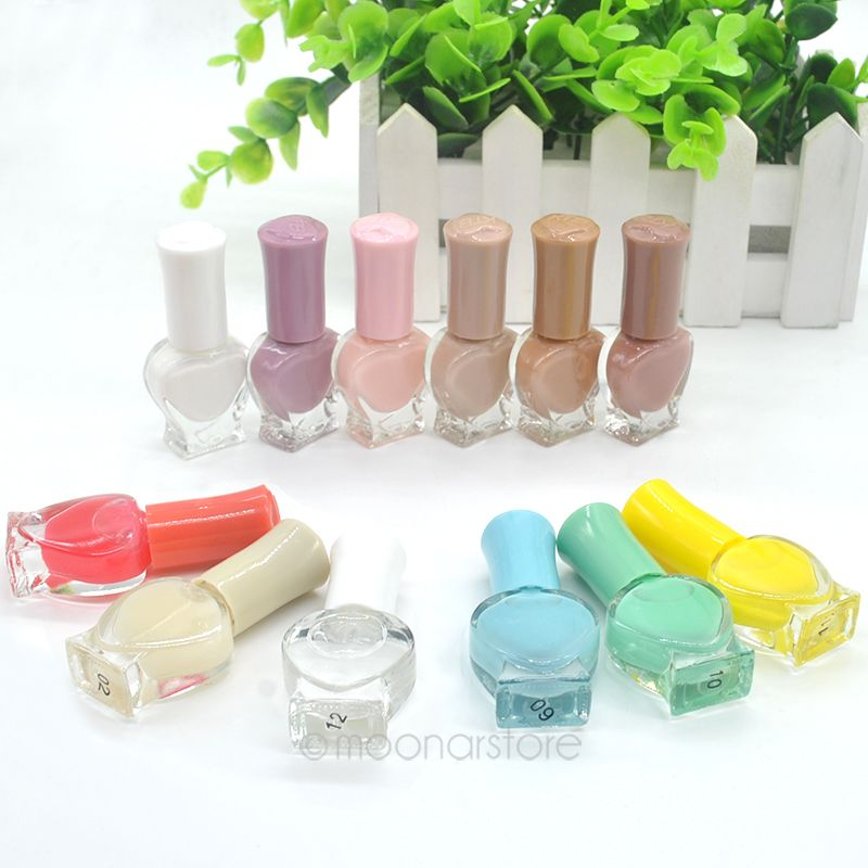 6ML Gel Nail Polish for Women Heart-Shaped Candy Color Non-Toxic ...