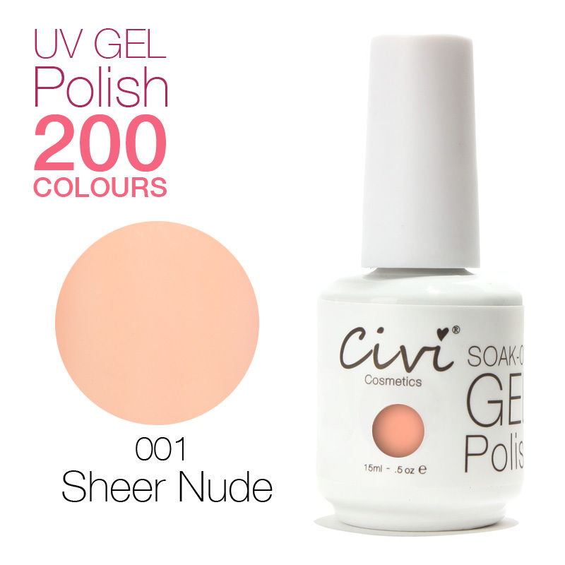 UV Gel By Civi Cosmetics 200 Colors Optional UV Gel Nail Polish Long ...