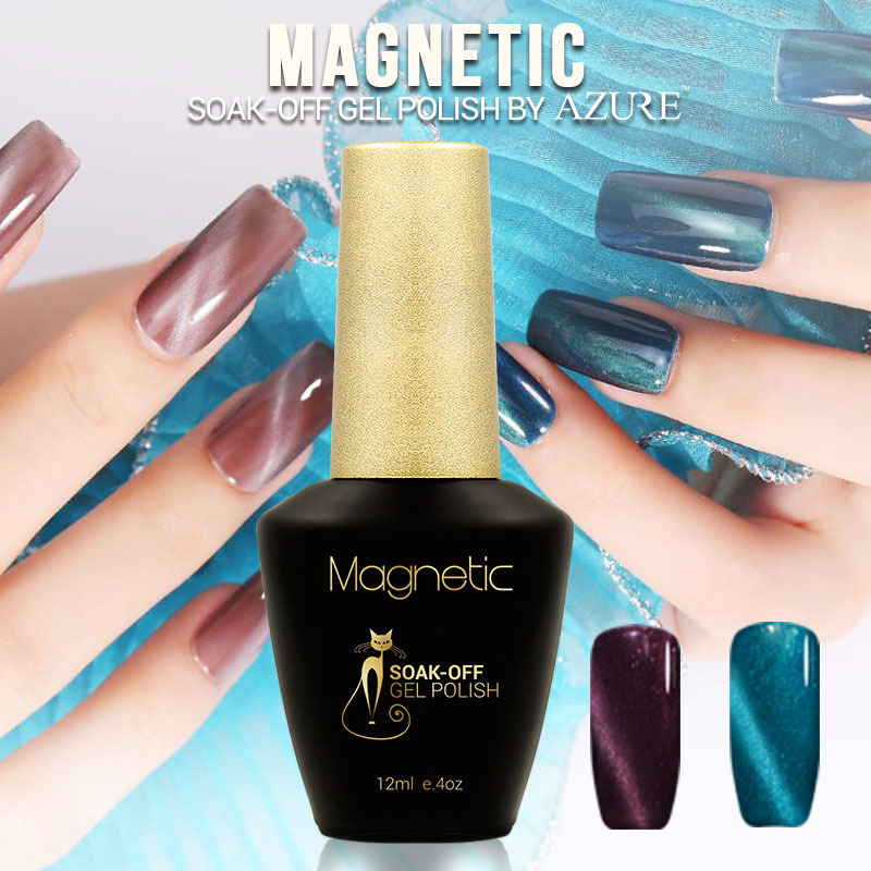 Brand Azure magnetic color gel Nail Gel Polish 48 Colors nail Art ...