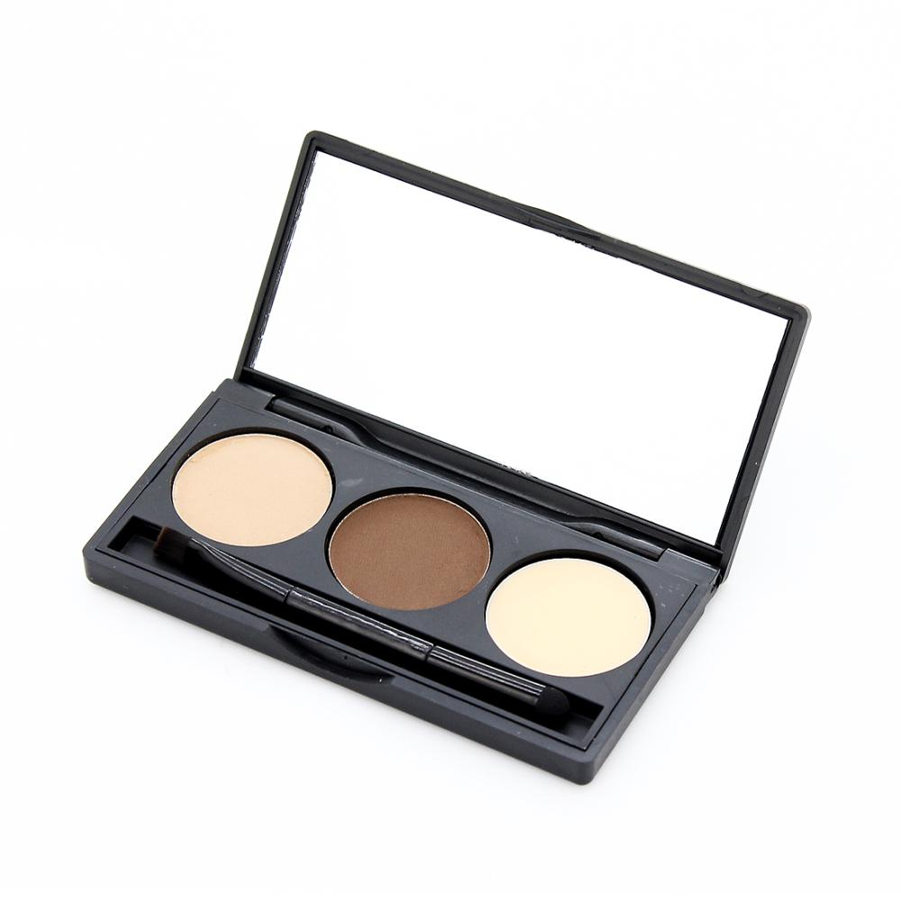 a5f871b31d6e 3 Colors Eyebrow Powder Eye Brow Palette Cosmetic Makeup Kit with Brush  Mirror