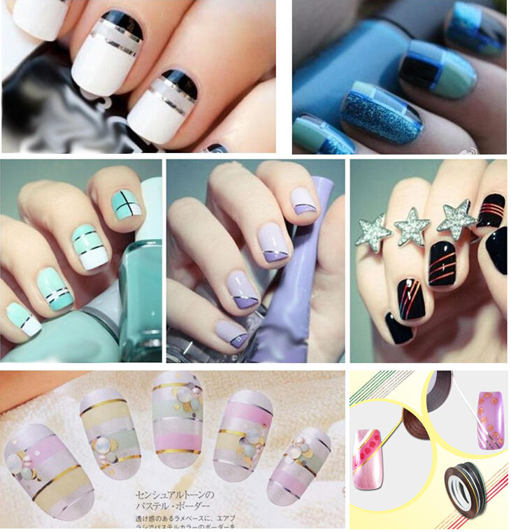 10x Striping Fashion Tape Line Nail Art Sticker Decoration B27 Hot ...