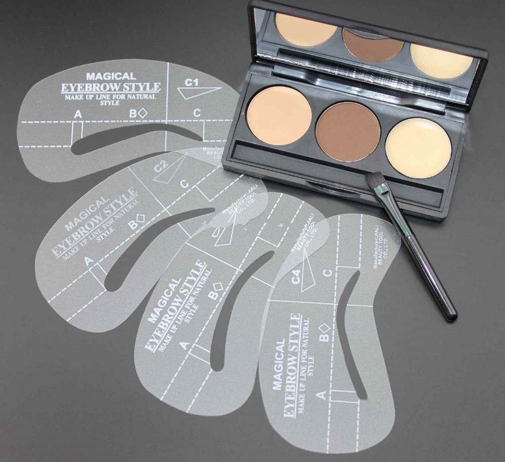 Hot Selling 3 Color Eyebrows Shaping Powder Eyebrow Wax Palette