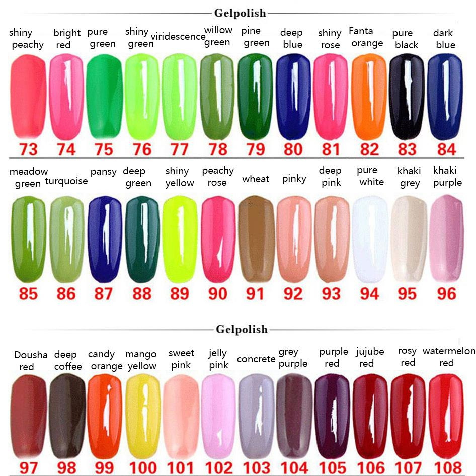 NA-168 Colors Nail Gel Polish Gel Len Long-lasting Soak-off UV Gel ...