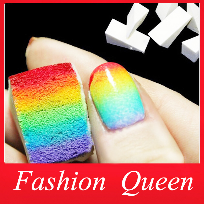New Gradient Nails Soft Sponges For Color Fade Manicure 16pcs Lot DIY Creative Nail Art Accessory Tools Free Shipping