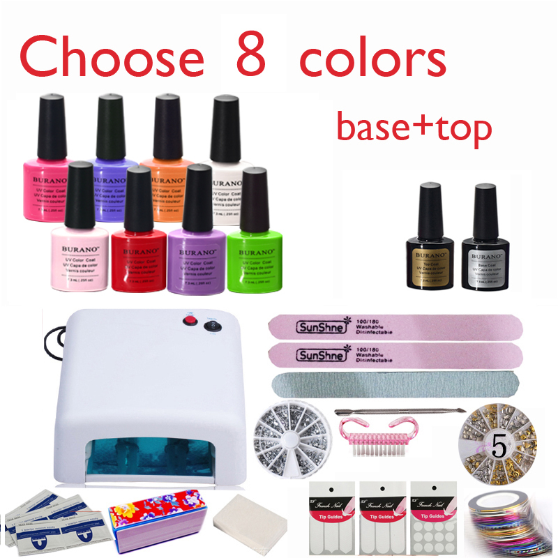 burano Nail kit Art DIY Full Set Led Soak Off Uv Gel Polish Manicure ...