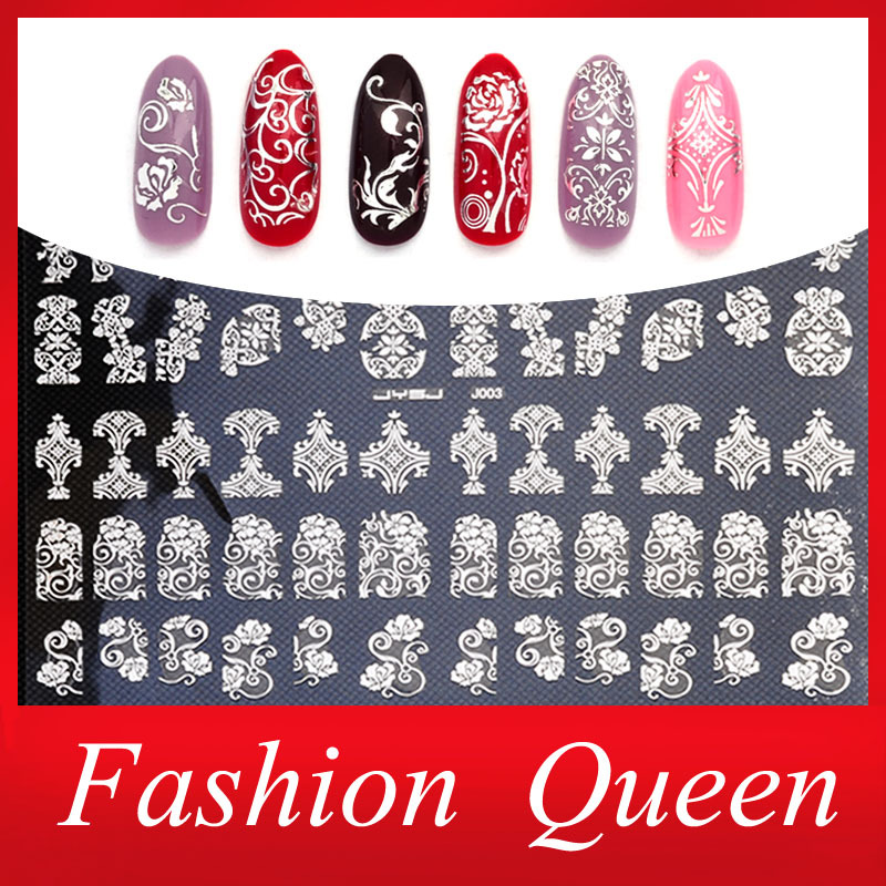 New Arrival Silver 3d Nail Art Stickers Decals108pcssheet Stylish