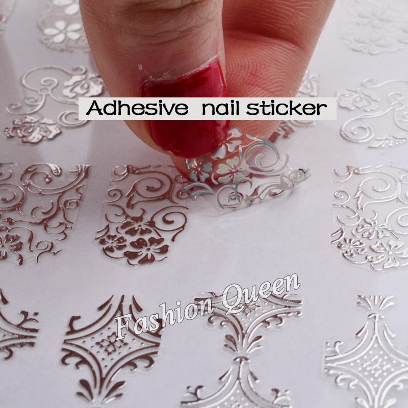 New arrival silver 3d nail art stickers decals108pcssheet new arrival silver 3d nail art stickers decals108pcssheet stylish metallic mixed designs nail tips accessory decoration tool prinsesfo Images