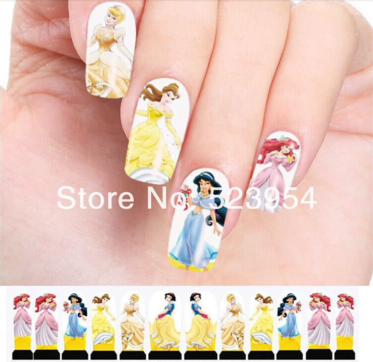 Water Transfer Nail Stickers,20sheets Hot Colorful Flowers Leopard ...