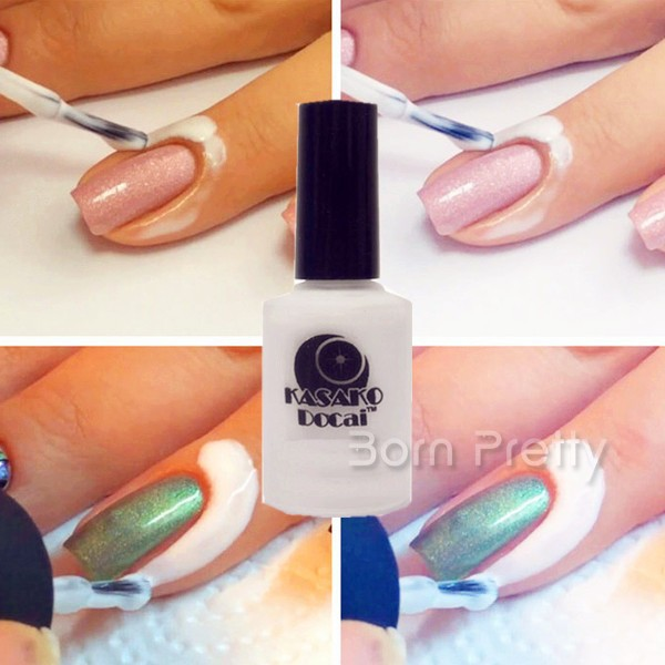 White Peel Off Liquid Tape & Peel Off Base Coat Nail Art Liquid ...