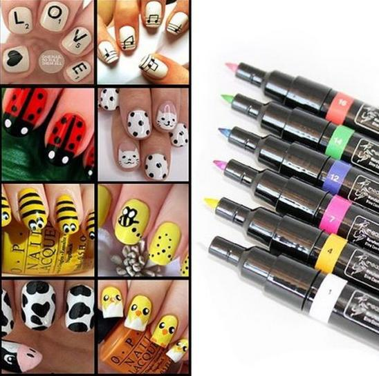 Nail painting pens best nails 2018 1pcs 16 colors for choice design pro nail art pen painting paint prinsesfo Image collections
