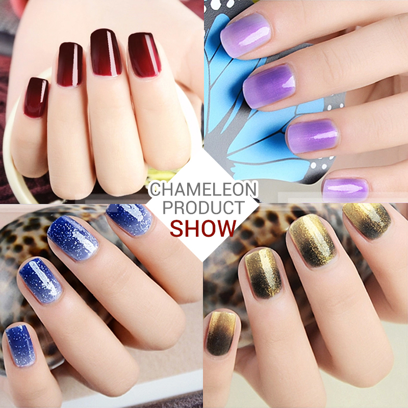 2015 Azure nail gel UV make up changing color with temperature nail gel  polish chameleon free shipping totally 36 colors
