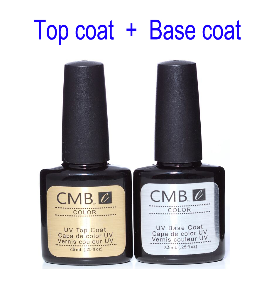 CMB Gel Nail Polish Top Coat+Base Coat Kit UV Gel Nail Polish Best on  Aliexpress 7.3ml Nail art tools