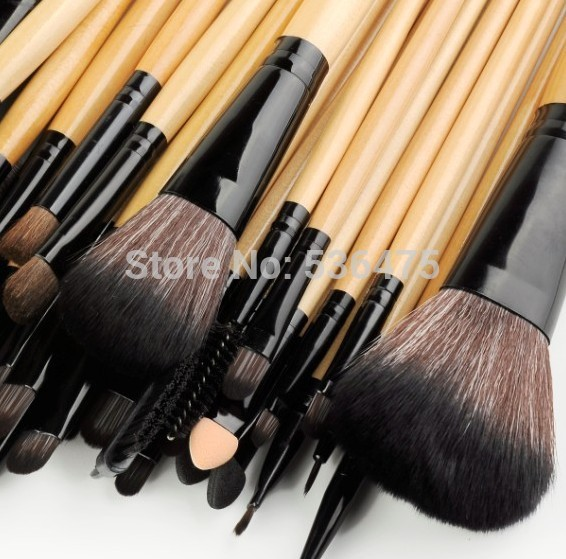 d3ad6b0c2814 Stock Clearance !!! 32Pcs Print Logo Makeup Brushes Professional Cosmetic  Make Up Brush Set The Best Quality!